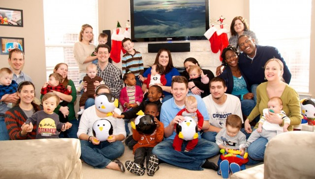 down syndrome kids group picture