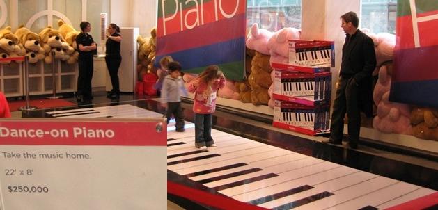 big piano fao dance on new york nyc