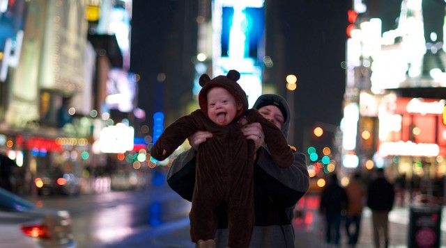 cute baby sticking tongue out new york