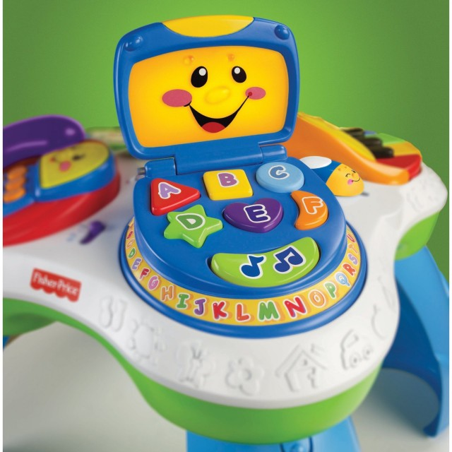 fisher price laugh learn table top toys down syndrome learning
