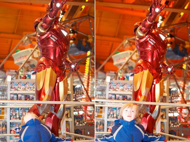 life size ironman iron man toys r us nyc