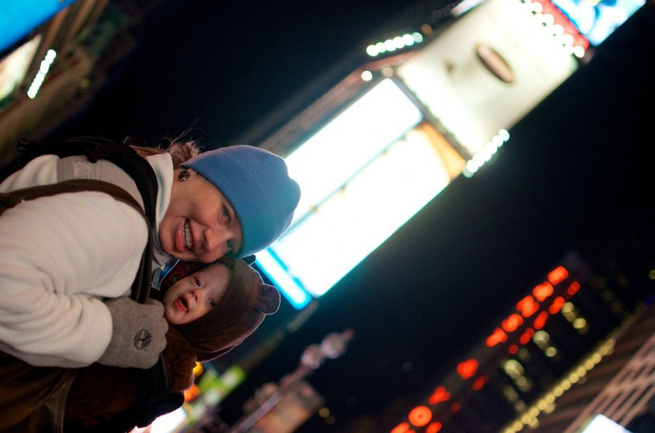 mother-son-down-syndrome-times-square-nyc 1