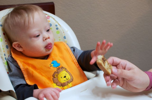 baby likes vegemite special needs down syndrome