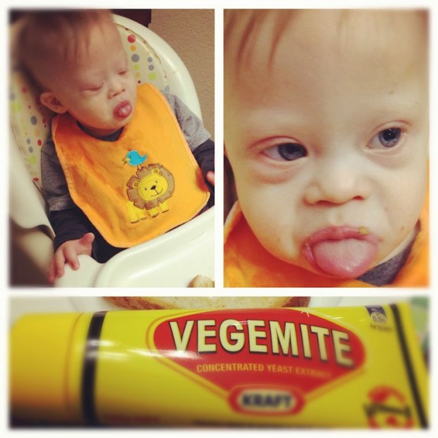 baby not liking vegemite taste toast