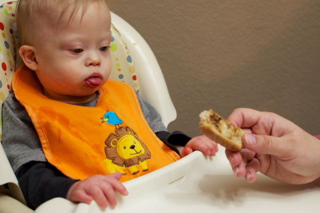 baby thinking about eating vegemite