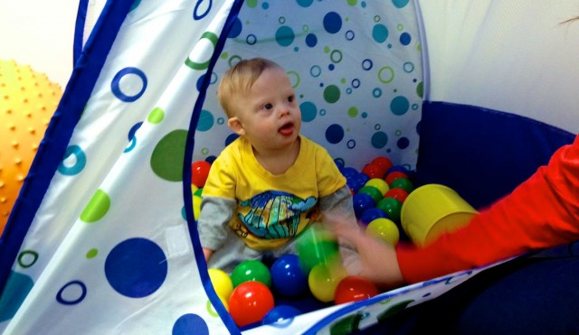 ball pit down syndrome therapy