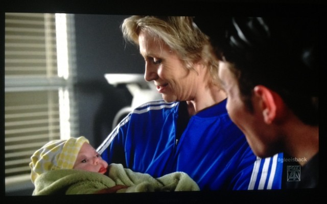 jordyn kindle orr glee baby down syndrome sue sylvester baby
