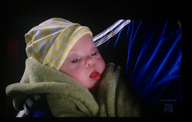 sue Sylvester's baby girl down syndrome glee robin
