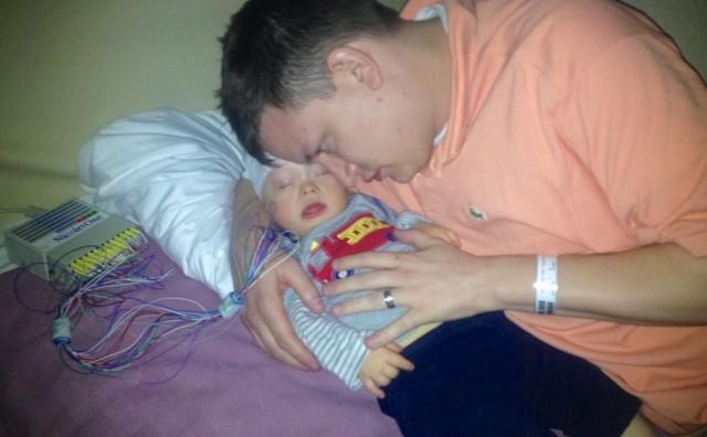 baby infant sleeping during eeg