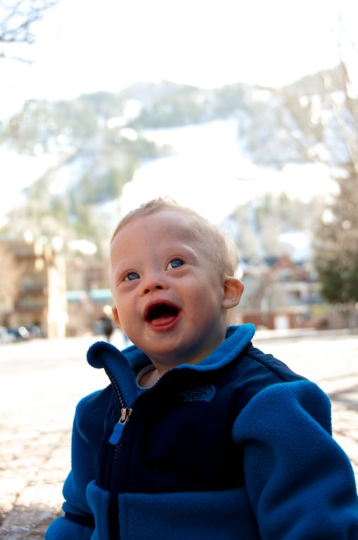 cute baby down town aspen colorado