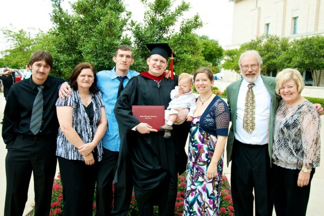 family picture after thm dallas seminary graduation
