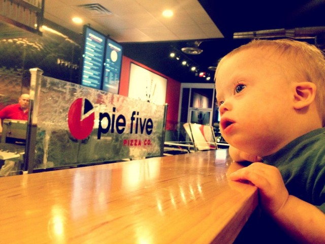 pie five pizza down syndrome child