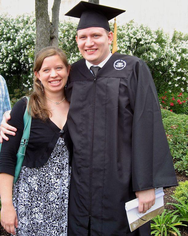 university houston graduation picture husband wife