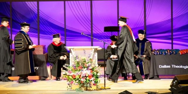 walking across stage graduation DTS dallas seminary DTS 1