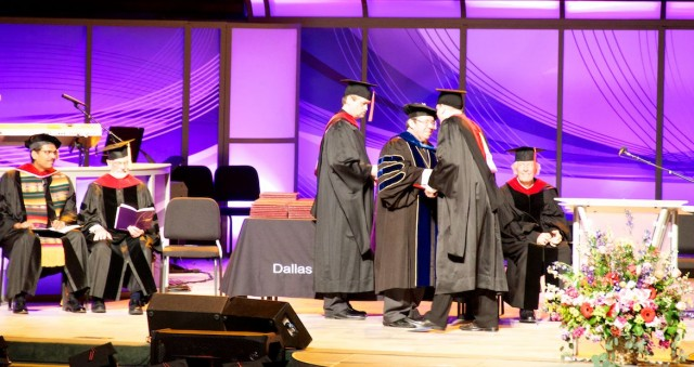 walking across stage graduation DTS dallas seminary DTS 2