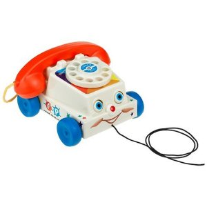 Classic Pull Toy Chatter Telephone pretend phone