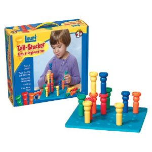 Lauri Toys Tall Stacker Pegs Pegboard