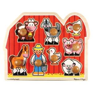 best wooden puzzle Melissa Doug Knob Farm Puzzle