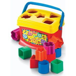 down synrome toys Fisher Price block Baby First Blocks