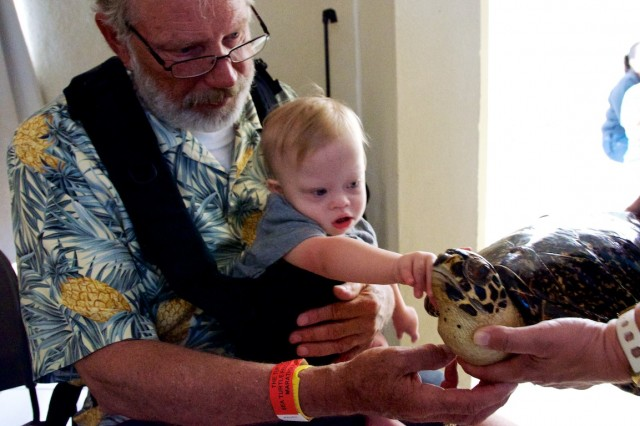 down syndrome child florida turtle hospital vacation 1