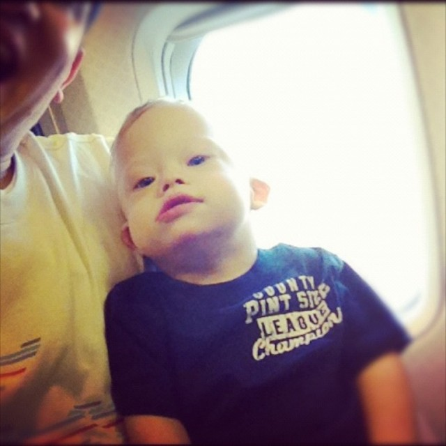 down syndrome child plane florida toddler