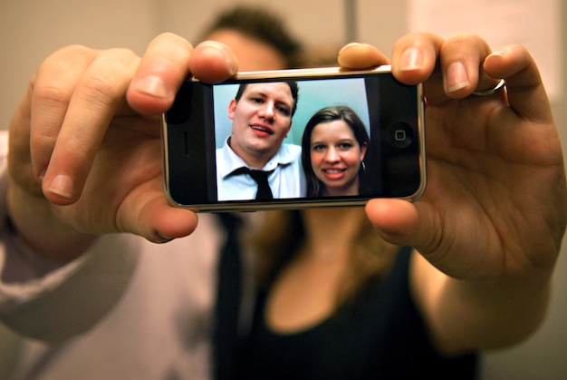 an engagement picture we took on our iphone