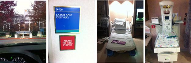 the hospital room where we would wait