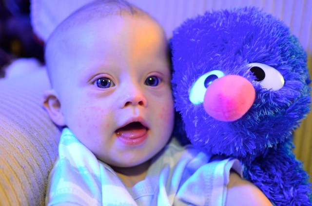 Our baby was born with down syndrome and likes grover