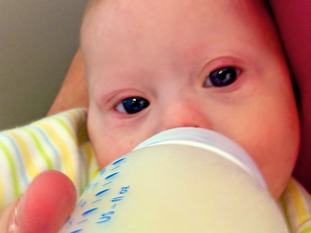 Our son was born with down syndrome but has no problem drinking from a bottle