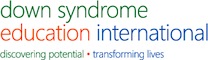 The logo for the Down syndrome eduction international dsei