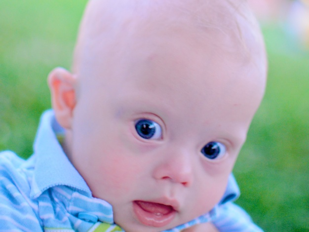 down syndrome baby fourth july fireworks