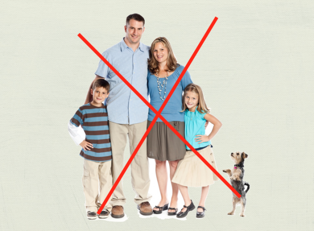 stop trying to be the perfect family