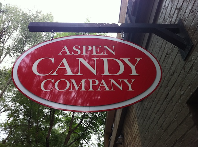 The aspen candy company in downtown aspen