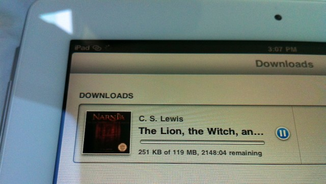 downloading chronicles of narnia on ipad