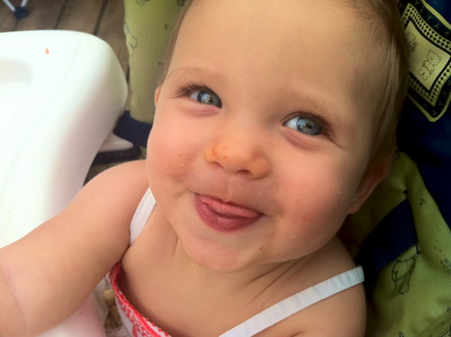 cute baby girl smile
