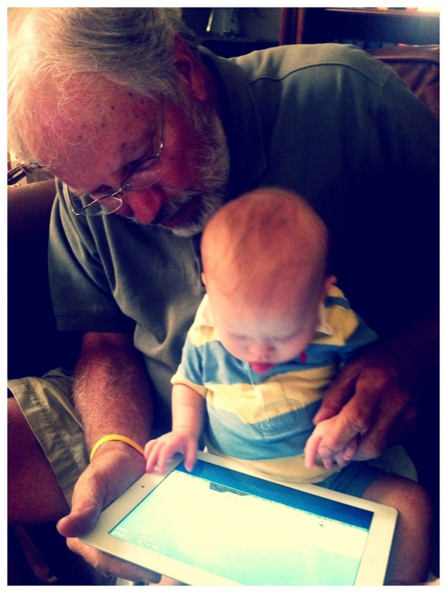 Noah Playing Angry Birds With Grandpa