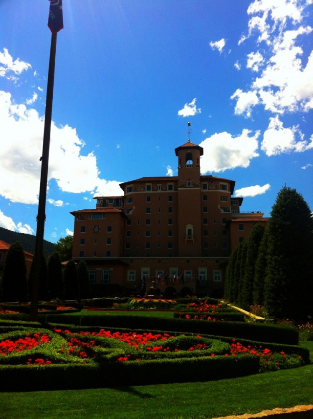 Hanging out at the Broadmoor Hotel