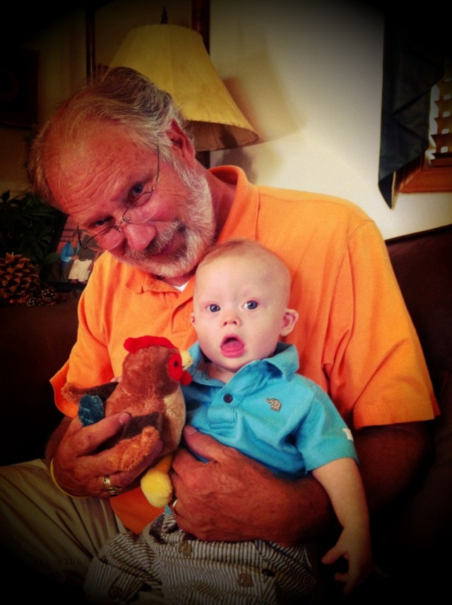 Baby Noah Loves His Grandpa