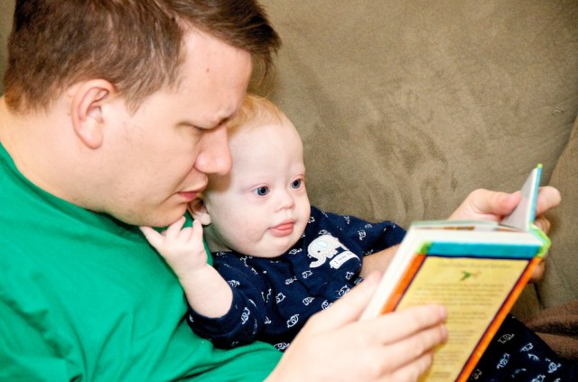 baby down syndrome father son jesus storybook bible