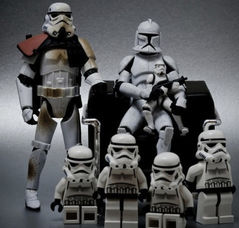 weird storm trooper family