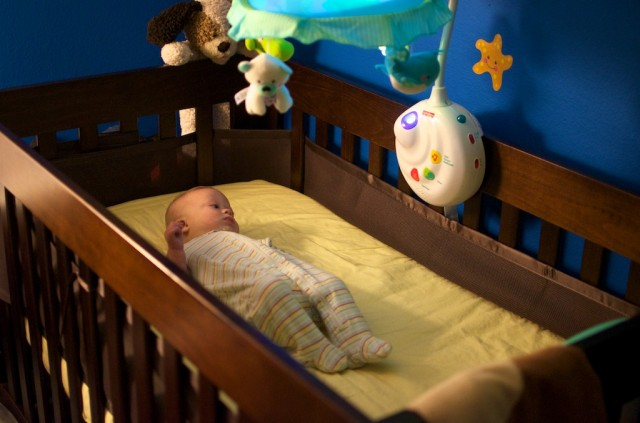 cute baby boy with down syndrome sleeping