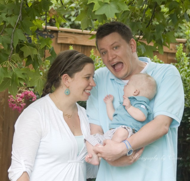 family picture baby down syndrome downs playing fun