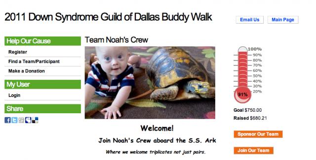 buddy walk dallas 2011 downs down syndrome awarness
