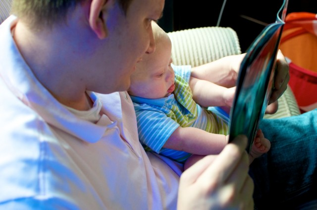 justice league of america jla comic DC read by dad to son