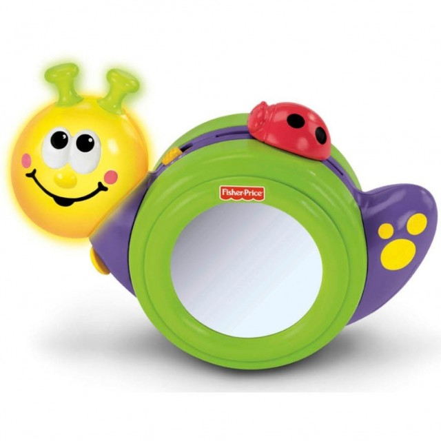 fisher price crawl along snail toy for baby with Down syndrome