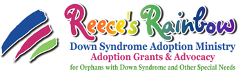 reeces rainbow adoption program logo down syndrome