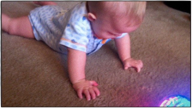 up on all fours down syndrome baby learning to crawl