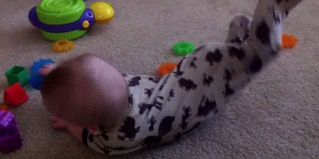 baby with Down syndrome break dancing