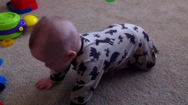 down syndrome baby learning to crawl