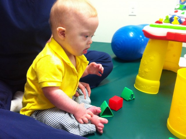 occupational therapy down syndrome playing